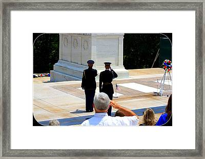 Taps At The Tomb Of The Unknown Framed Print by Patti Whitten