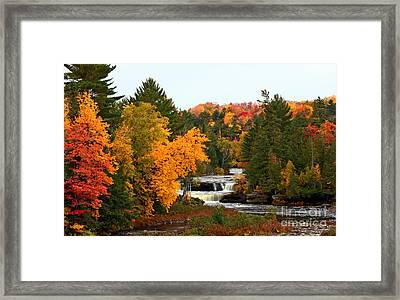 Taquamenon Falls Framed Print by Dipali S