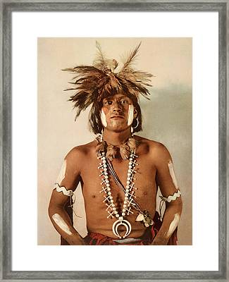 Taqul, A Moki Snake Priest Framed Print by William Henry Jackson