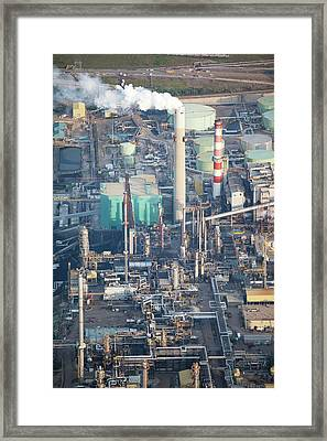 Tar Sands Deposit Mine Framed Print by Ashley Cooper