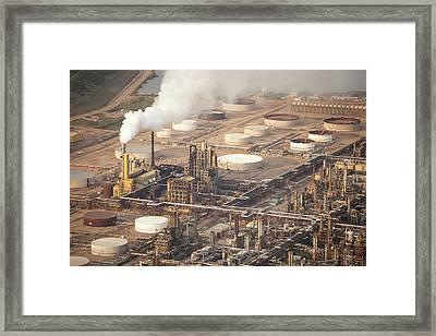 Tar Sands Deposits Mined Syncrude Mine Framed Print by Ashley Cooper