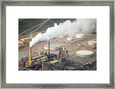 Tar Sands Deposits Syncrude Mine Framed Print by Ashley Cooper