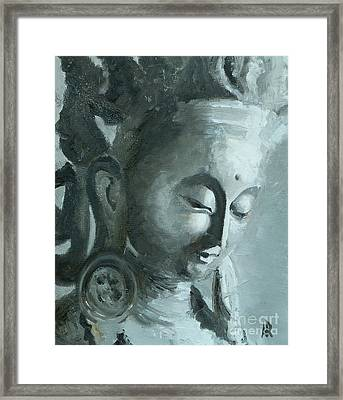 Tara In Stillness Framed Print by Ann Radley