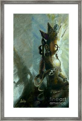 Tara Of Compassion Framed Print by Ann Radley