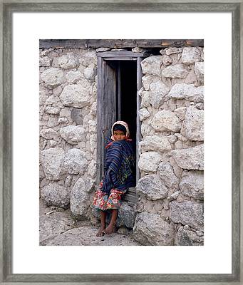 Tarahumara Child Framed Print by Erik Poppke
