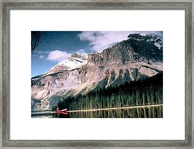 Tranquility...emerald Lake Canada Framed Print by Peggy Stokes