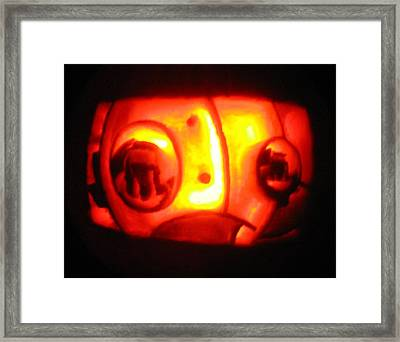Framed Print featuring the sculpture Tarboy Pumpkin by Shawn Dall