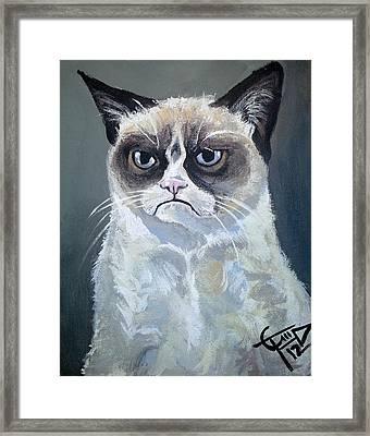 Tard - Grumpy Cat Framed Print
