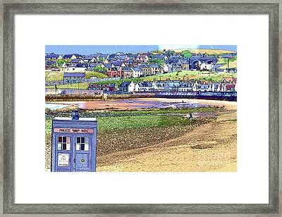 Tardis At Cullen Framed Print by Diane Macdonald