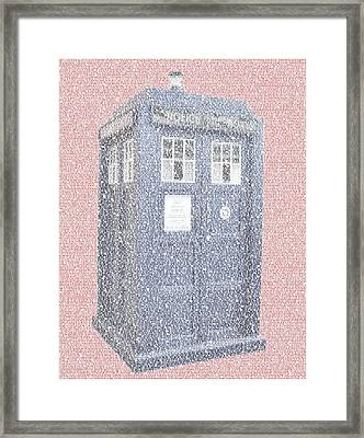 Tardis Quotes Mosaic Framed Print