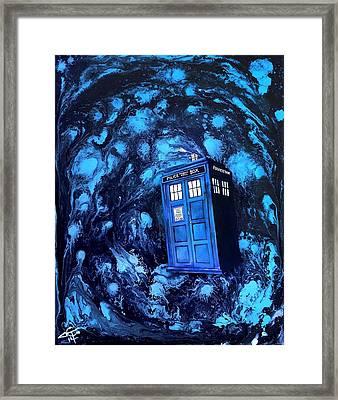 Tardis Framed Print by Tom Carlton