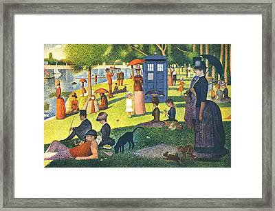 Tardis V Georges Seurat Framed Print by GP Abrajano
