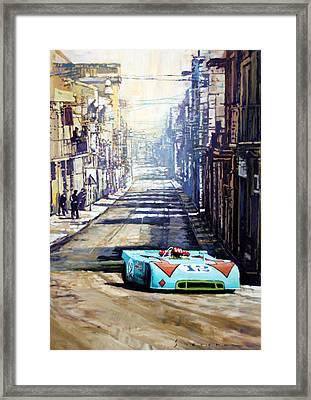 Targa Florio 1970  Porsche 908 Siffert Framed Print