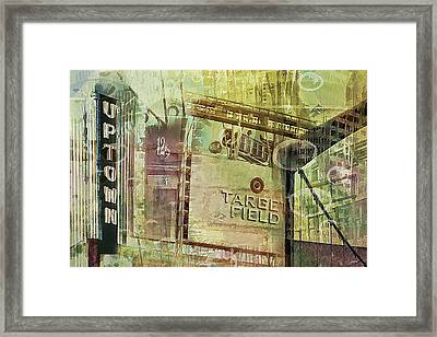 Target Field And Uptown Framed Print by Susan Stone