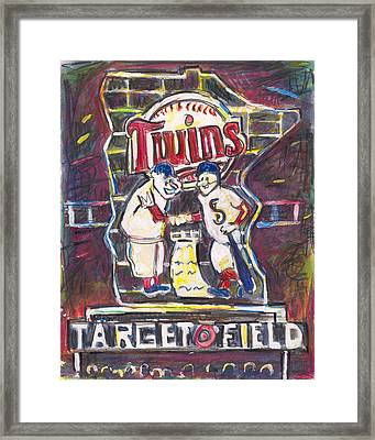 Target Field At Night Framed Print by Matt Gaudian