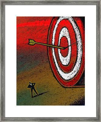 Target Framed Print by Leon Zernitsky