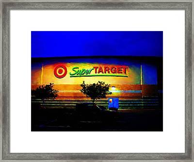 Framed Print featuring the digital art Target Super Store B by P Dwain Morris