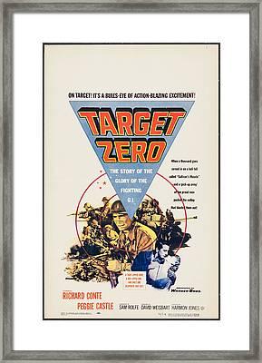 Target Zero, Us Poster, Richard Conte Framed Print by Everett