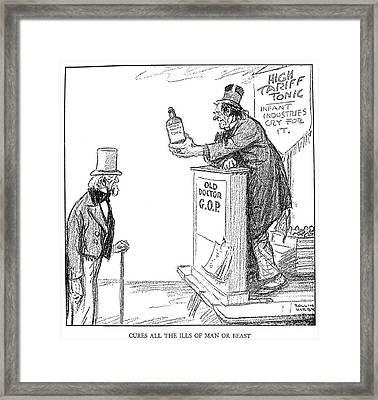 Tariff Bill, 1921 Framed Print