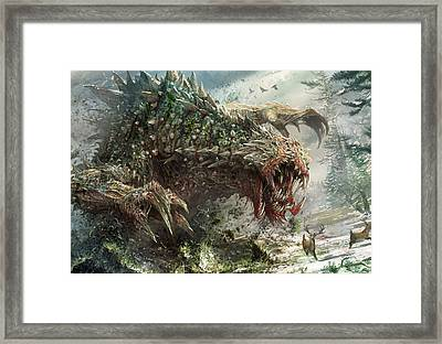 Tarmogoyf Reprint Framed Print by Ryan Barger