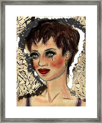 Framed Print featuring the digital art Tarnished by Desline Vitto