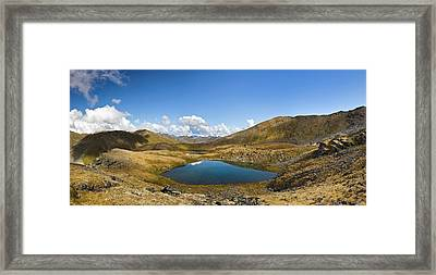 Tarns At April Bowl In Summit Lake Framed Print