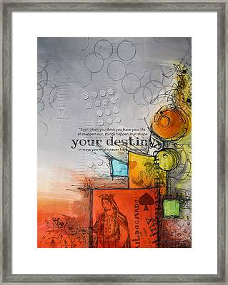 Tarot Card Abstract 006 Framed Print by Corporate Art Task Force