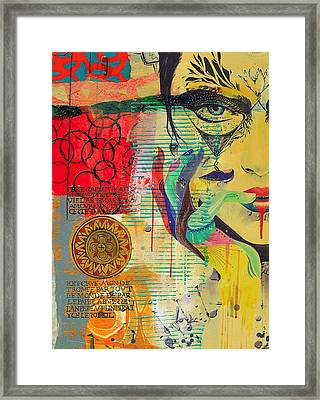 Tarot Card Abstract 007 Framed Print by Corporate Art Task Force