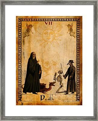 Tarot Card Death Framed Print by Cinema Photography