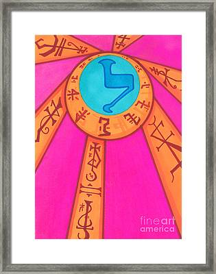 Tarot Card - Eclipse  Framed Print