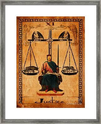 Tarot Card Justice Framed Print