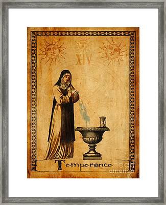 Tarot Card Temperance  Framed Print by Cinema Photography