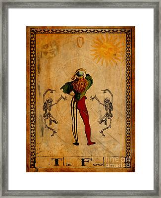 Tarot Card The Fool Framed Print by Cinema Photography
