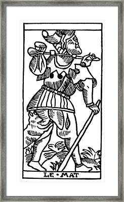 Tarot Card The Fool Framed Print by Granger