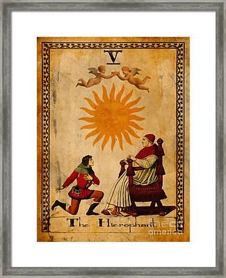 Tarot Card The Hierophant Framed Print by Cinema Photography
