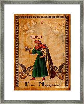 Tarot Card The Magician  Framed Print by Cinema Photography