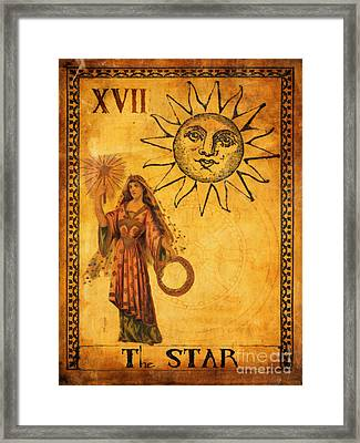 Tarot Card The Star Framed Print by Cinema Photography