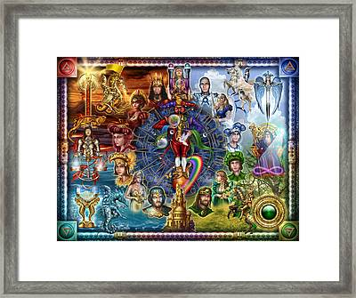 Tarot Of Dreams Framed Print by Ciro Marchetti