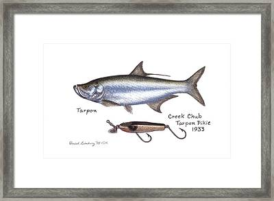 Tarpon And Creek Chub Tarpon Lure 1933 Framed Print