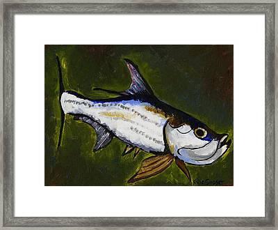 Tarpon Fish Framed Print