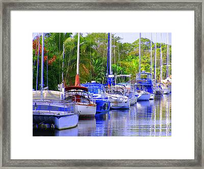 Framed Print featuring the photograph Tarpon River by Artists With Autism Inc