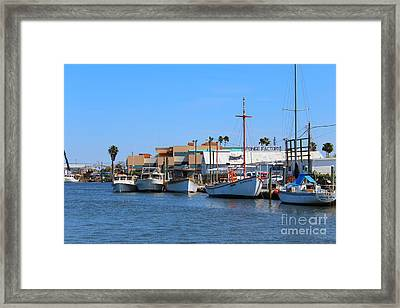 Framed Print featuring the painting Tarpon Springs Boats by Jeanne Forsythe