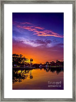Tarpon Springs Glow Framed Print by Marvin Spates