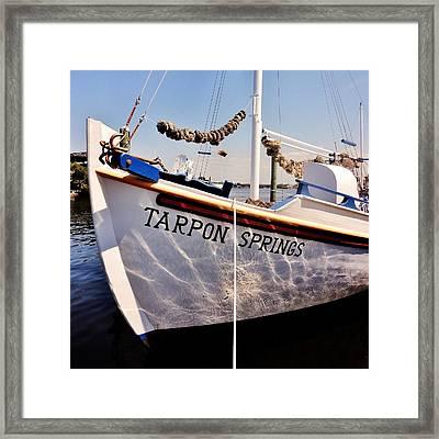 Tarpon Springs Spongeboat Framed Print by Benjamin Yeager