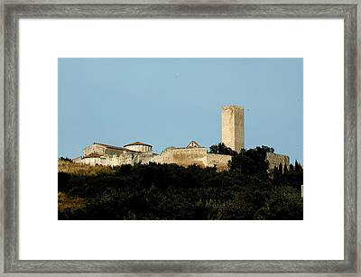 Tarquinia Landscape With Tower Framed Print