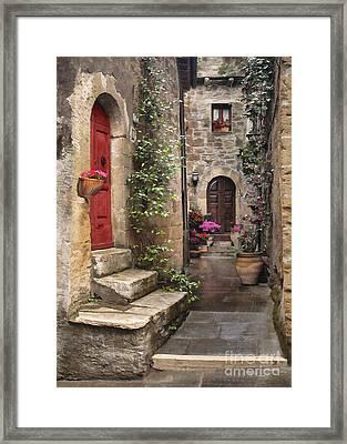 Tarquinian Red Door Framed Print