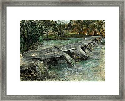 Tarr Steps Framed Print by Carol Rowland