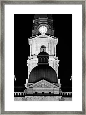 Tarrant County Courthouse Bw V1 020815 Framed Print