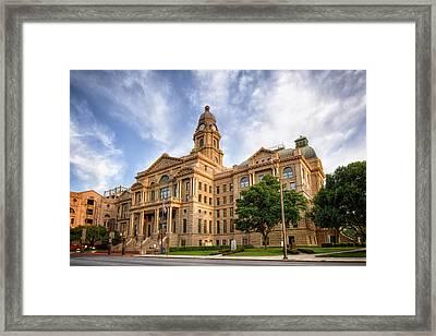 Tarrant County Courthouse II Framed Print