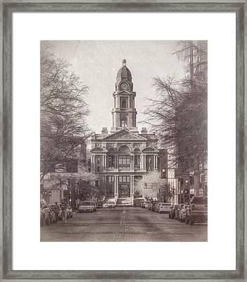 Tarrant County Courthouse Framed Print by Joan Carroll